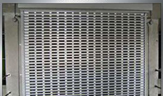 perforated roller shutter doors